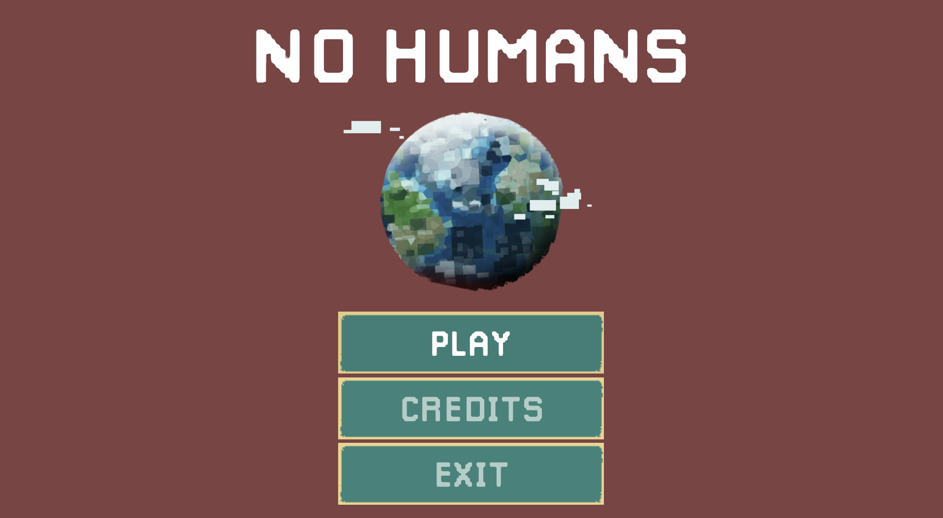 No humans - Splash screen