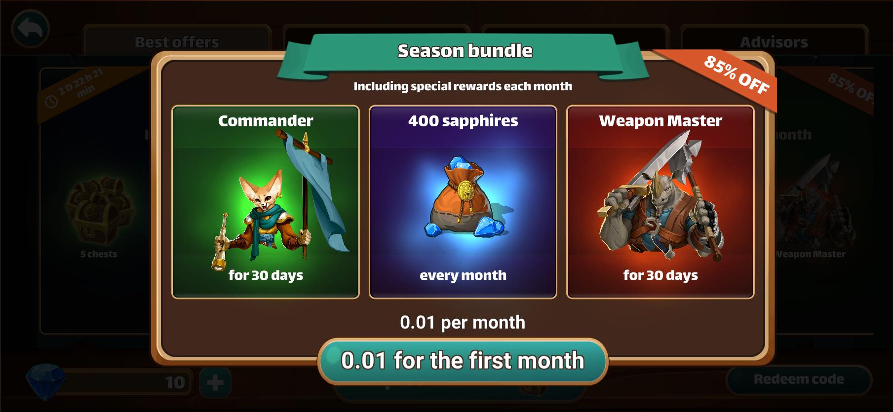 Million Lords - Season bundle offer